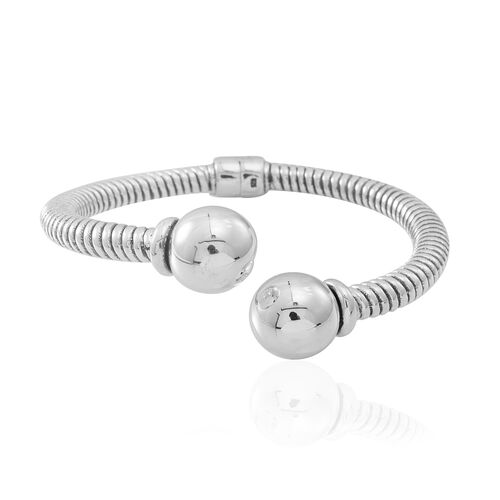 Statement Collection Sterling Silver Tourque Bangle (Size 7.5), Silver wt 24.21 Gms.