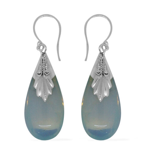 Super Auction-Royal Bali Collection Opalite (Pear) Hook Earrings in Sterling Silver