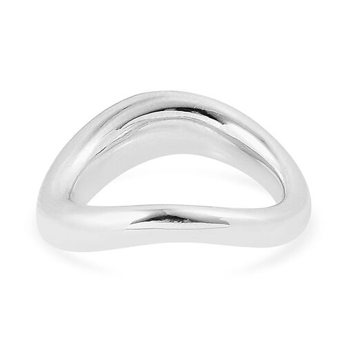 LucyQ Ring in Rhodium Plated Sterling Silver 7.49 Gms.