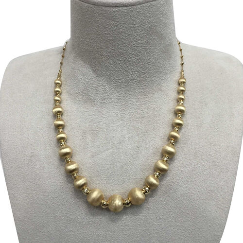 JCK 2017 Collection - 9K Y Gold Beads Necklace (Size 18 with 1.5 inch Extender), Gold 13.76 Gms.