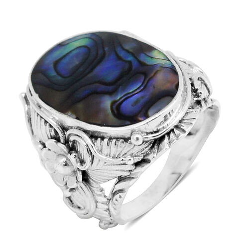 Royal Bali Collection Abalone Shell (Ovl) Ring in Sterling Silver 18.000 Ct.