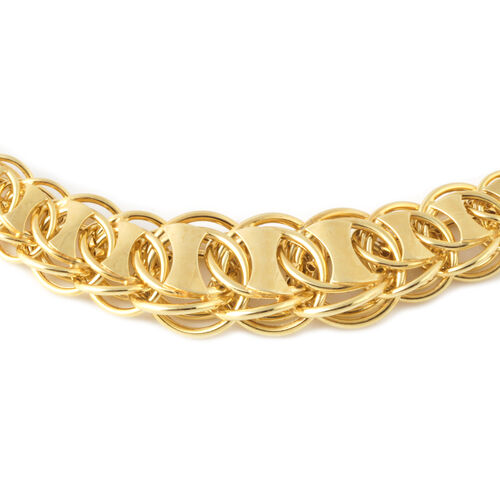 Designer Inspired-Vicenza Collection 9K Yellow Gold Double Curb Fancy Necklace (Size 18 with 2 inch Extender), Gold wt 14.26 Gms.