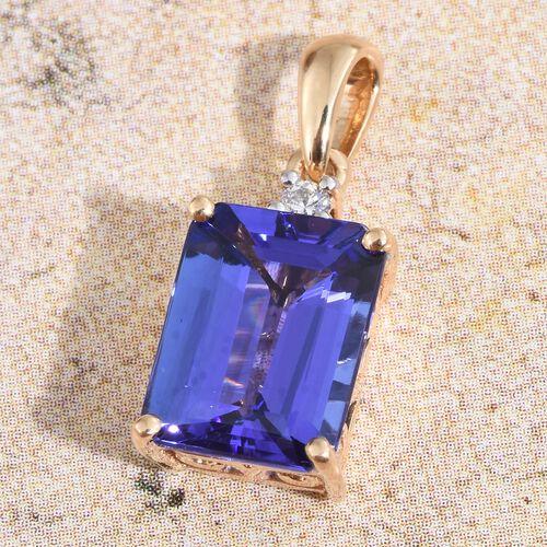 ILIANA 2.90 Ct AAA Tanzanite and IGI Certified (SI/G-H) Diamond Pendant in 18K Gold