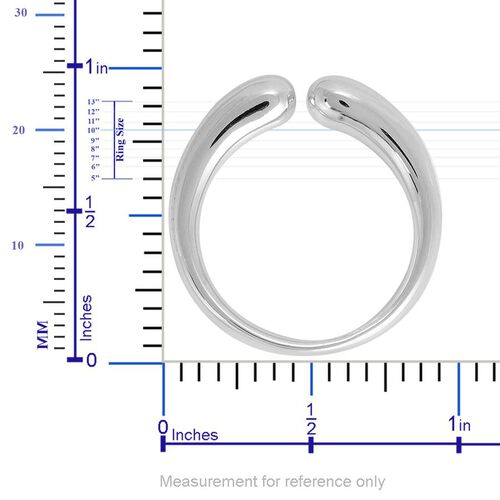 LucyQ Double Drip Ring in Rhodium Plated Sterling Silver 5.09 Gms.