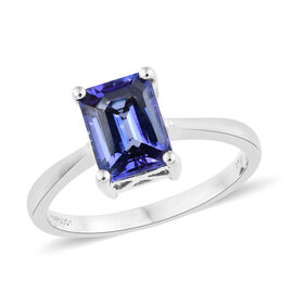 RHAPSODY 950 Platinum AAAA Tanzanite (Oct) Ring 2.250 Ct, Platinum wt 5.19 Gms