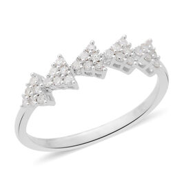 Natural White Diamond (Rnd) Ring in Platinum Overlay Sterling Silver 0.330 Ct.