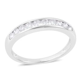 RHAPSODY 950 Platinum 0.50 Carat Diamond Half Eternity Ring IGI Certified (VS/E-F)