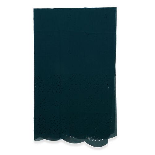 Laser Cut Pattern Dark Green Colour Scarf (Size 160x60 Cm)