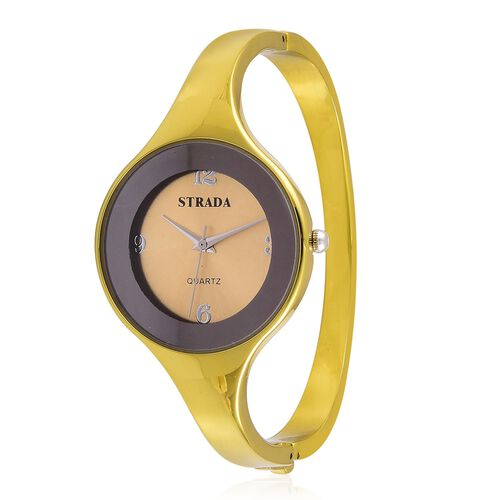 STRADA Japanese Movement Water Resistant Bangle Watch