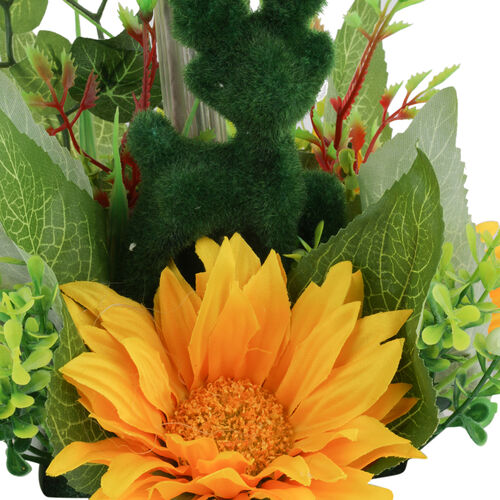 Home Decor - Sunshine Gerbera Daisy Flowers in Ceramic Pot (Size 40 Cm)