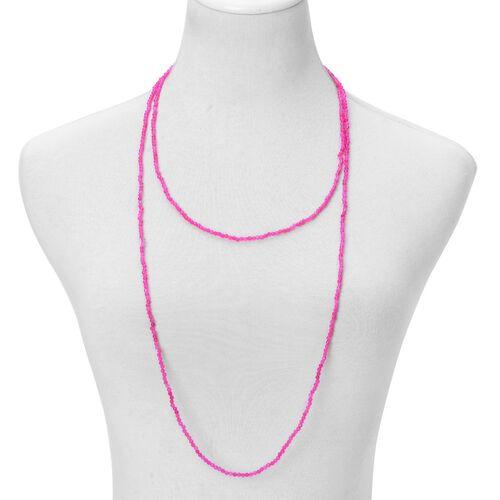 Fuschia Agate Necklace (Size 60) 93.000 Ct.