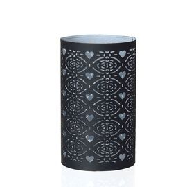 Metal Candle Holder with Heart Cut Work