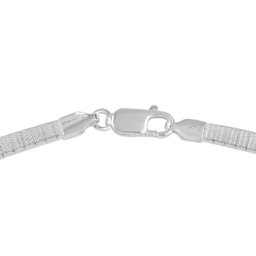 JCK Vegas Collection Rhodium Plated Sterling Silver Cleopatra Necklace (Size 18), Silver wt 26.00 Gms.
