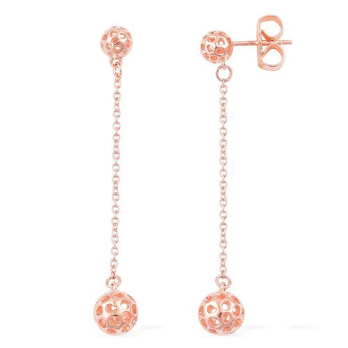 RACHEL GALLEY Rose Gold Overlay Sterling Silver Lattice Globe Earrings (with Push Back)