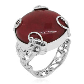 Royal Bali Collection Sponge Coral (Rnd) Ring in Sterling Silver 12.000 Ct.