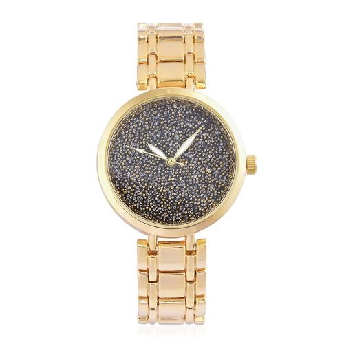 GENOA Swarovski Crystal Dial Japanese Movement Gold Plated Watch