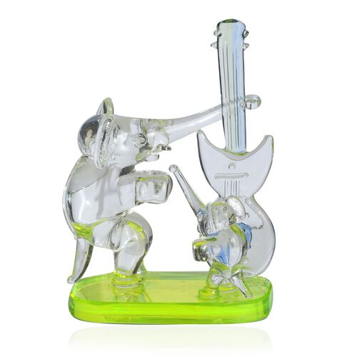 Home Decor - Hand Made Dancing Elephant And Baby With Guitar