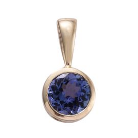 9K Yellow Gold 1.15 Ct AA Tanzanite Solitaire Pendant