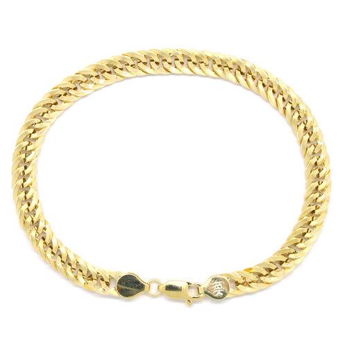 ILIANA 18K Y Gold Curb Bracelet (Size 8), Gold wt 7.61 Gms.