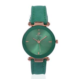 Diamond (Rd 1.3mm) Faceted Glass Constellation Stainless Steel Watch - Green