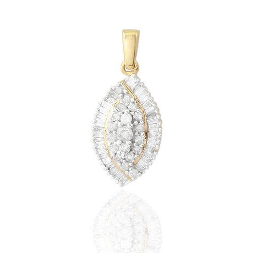 9K Y Gold SGL Certified Diamond (Rnd) (I3/ G-H) Pendant 0.500 Ct.