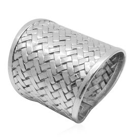 Royal Bali Collection Sterling Silver Weave Net Design Ring, Silver wt 7.83 Gms.