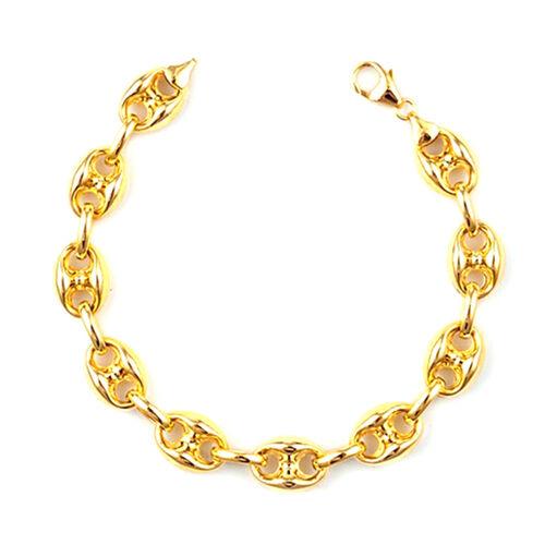 JCK Vegas Collection 9K Y Gold Anchor Marine Link Bracelet (Size 8.5 with Extender), Gold wt. 8.65 Gms.