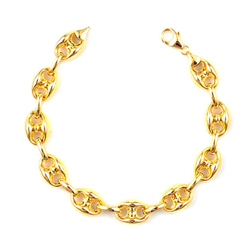 JCK Vegas Collection 9K Yellow Gold Anchor Marine Link Necklace (Size 18 with 2 inch Extender), Gold wt. 20.01 Gms.