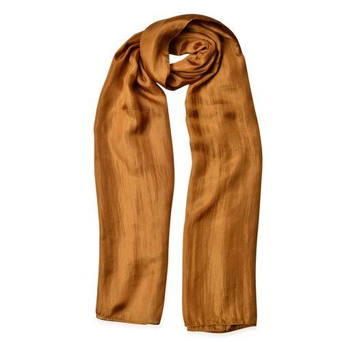 100% Mulberry Silk Pantone Colour Medal Bronze Scarf (Size 180X100 Cm)