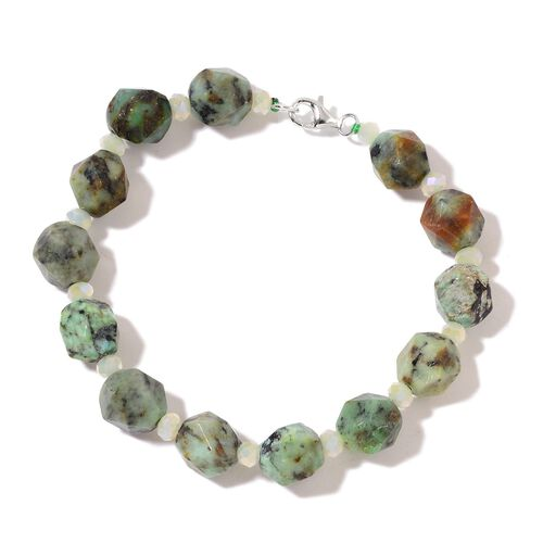 Jasper Bracelet (Size 7.5) in Rhodium Plated Sterling Silver 80.000 Ct.