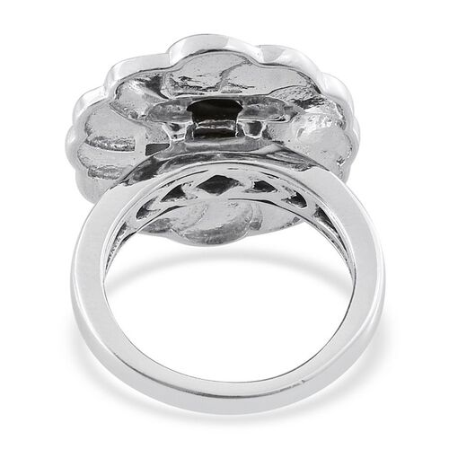 Goldenite (Ovl) Solitaire Ring in Platinum Overlay Sterling Silver 1.750 Ct.