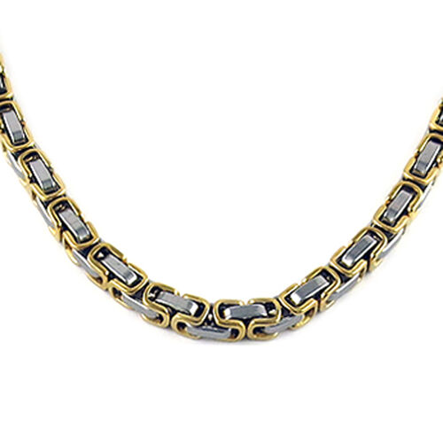 Designer Inspired Byzantine Necklace in Gold Tone