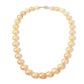 ILIANA 18K Y Gold South Sea Golden Pearl (Rnd) Necklace (Size 18)
