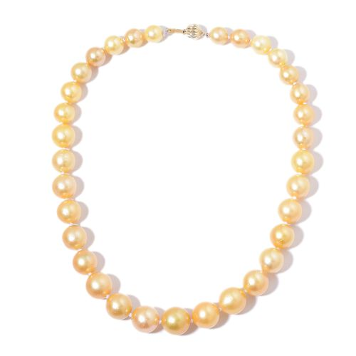Signature Collection-ILIANA 18K Y Gold South Sea Golden Pearl (Rnd 9-15mm) Necklace (Size 18)