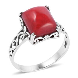 Royal Bali Collection Coral (Cush) Ring in Sterling Silver
