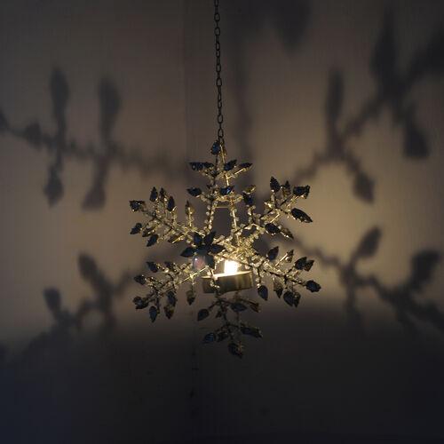 Sparkle Snowflake Decorative hanging Light Holder