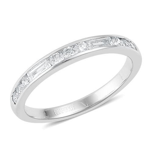 RHAPSODY 950 Platinum Diamond (Bgt) (VS/E-F) Half Eternity Band Ring 0.500 Ct.