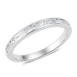 RHAPSODY 950 Platinum 0.50 Carat Diamond Half Eternity Band Ring (VS/E-F)