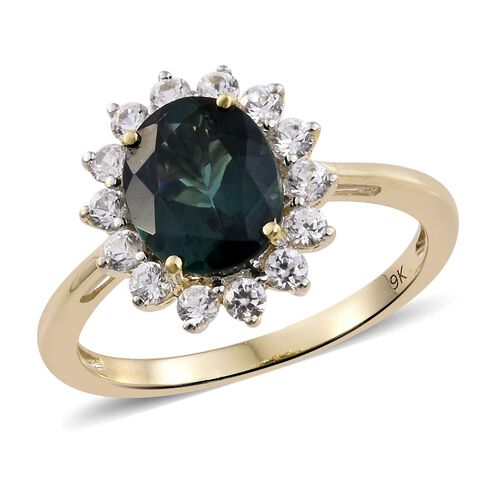 9K Yellow Gold AAA Natural Indian Ocean Apatite (Ovl 2.75 Ct), Natural Cambodian Zircon Ring 3.750 Ct.