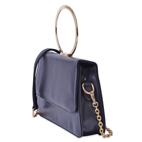 Eddie Black Colour Tote Bag with Shoulder Strap (Size 26x17x6 Cm)