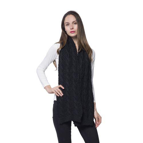 New For Season Designer Inspired Black Colour Scarf (Size 170x25 Cm)