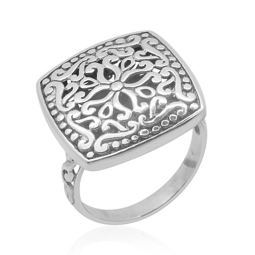 Royal Bali Collection Sterling Silver Floral Ring, Silver wt 5.50 Gms.