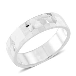 Thai Sterling Silver Diamond Cut Band Ring, Silver wt 4.80 Gms.