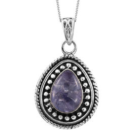 Tanzanite Pendant with Chain in Sterling Silver 2.410 Ct.Sterling Silver Wt. 6.15 Gms