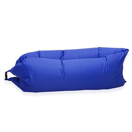 Navy Colour Self Inflating Air Lounger with Carry Pouch