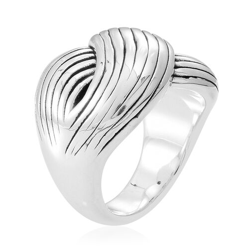 Thai Sterling Silver Criss Cross Ring, Silver wt 4.50 Gms.