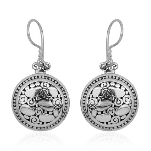 Royal Bali Collection Sterling Silver Hook Earrings, Silver wt 7.61 Gms.