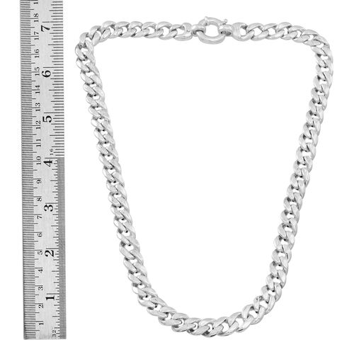 Statement Collection Sterling Silver Curb Necklace (Size 20), Silver wt 47.20 Gms.