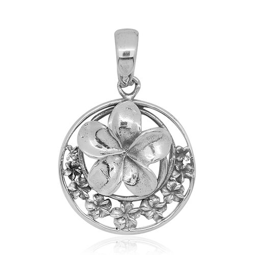 Royal Bali Collection Sterling Silver Floral Pendant, Silver wt 4.24 Gms.