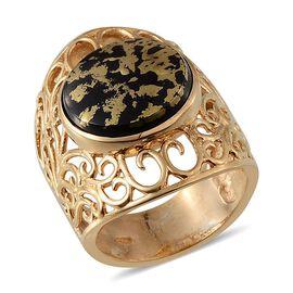 Goldenite (Rnd) Filigree Ring in 14K Gold Overlay Sterling Silver 6.750 Ct.